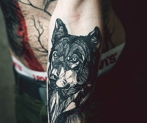 tattoo, wolves, and Tattoos image