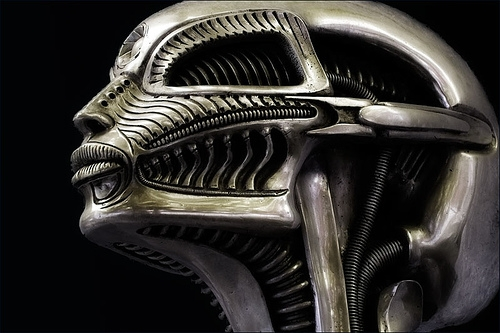 alien, cyber, and HR Giger image