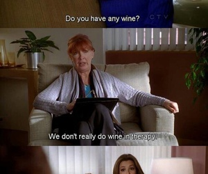 Desperate Housewives, wine, and therapy image