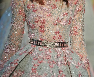 brodery, dress, and flowers image