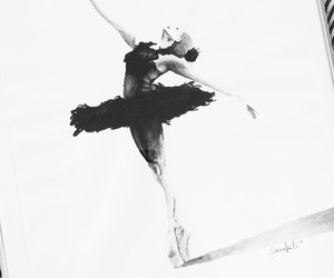 ballet, black and white, and drawing image