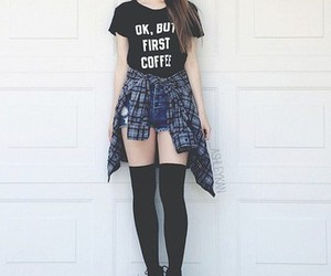 coffee, fashion, and ok but first coffee image