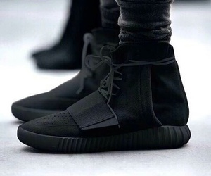 black, yeezy, and sneakers image