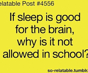school, sleep, and brain image