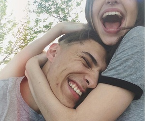cute couple, happiness, and love image