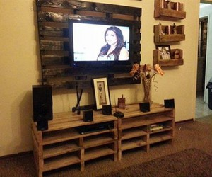 wooden pallet, pallet projects, and tv stands image