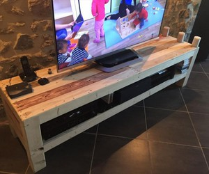 tv stands, pallet ideas, and wooden pallet image