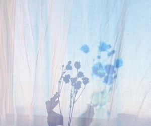 blue, flowers, and pale image