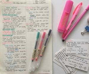 blue, pink, and studyspo image
