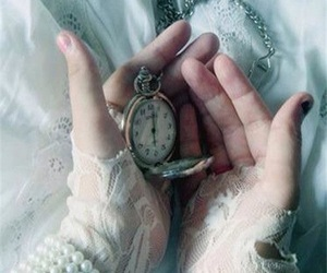 vintage, clock, and hands image