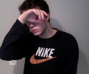 boy, nike, and pale image