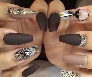 green, rings, and nail polish image