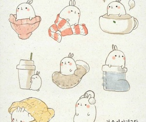 cute, bunny, and molang image