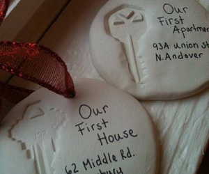 key, couple, and house image