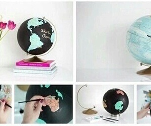 diy, creative, and globe image