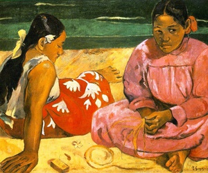 art, gauguin, and paint image
