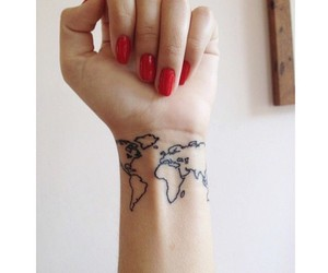 map and tattoo image