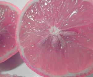pink, fruit, and lemon image
