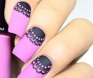very cool, pink love, and nails art image
