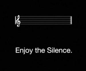 silence, music, and enjoy image