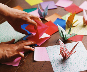 origami, art, and colors image