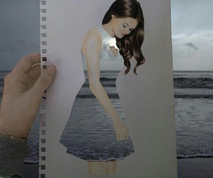 art, sea, and dress image