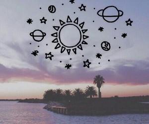 sun, planet, and tumblr image