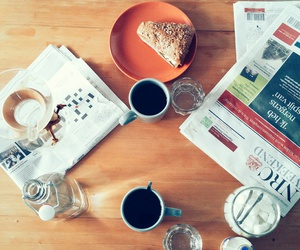 breakfast, Lazy, and newspaper image