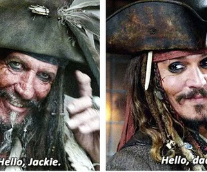 johnny depp, pirates of the caribbean, and dad image
