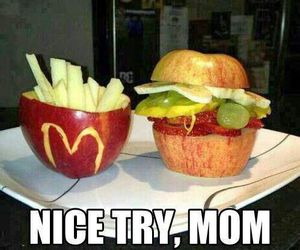 food, fruit, and McDonalds image