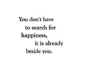 black&white, happiness, and quotes image