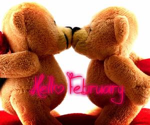 bear, heart, and hello february image