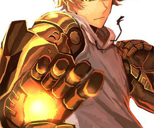 one punch man, genos, and anime image