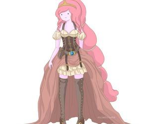 adventure time, princess bubblegum, and steampunk image
