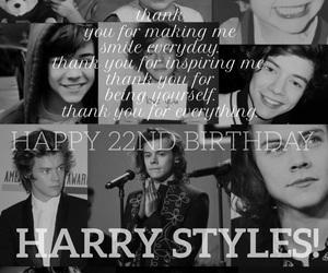 awww, happy birthday, and Harry Styles image