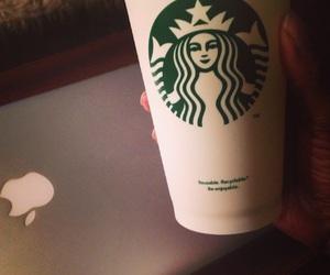 coffee, macbook, and pleasure image
