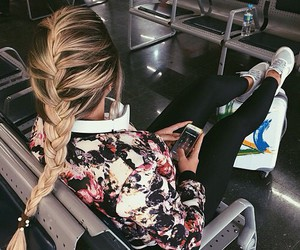 braid, hair, and clothes image