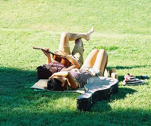 girl, guitar, and couple image