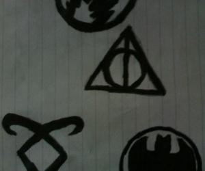 batman, dibujo, and harry potter image