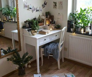 room, plants, and white image