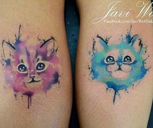 cat, tatto, and tattos image