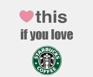 starbucks, heart, and coffee image