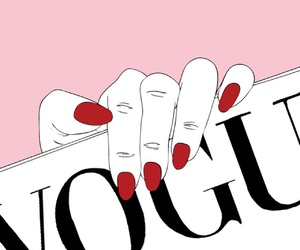 vogue, pink, and hand image