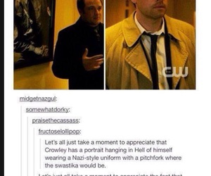 supernatural, crowley, and misha collins image
