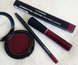 mac, makeup, and red image