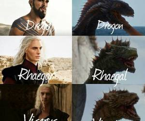 dragon, game of thrones, and khal drogo image