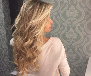 blonde, curls, and haïr image
