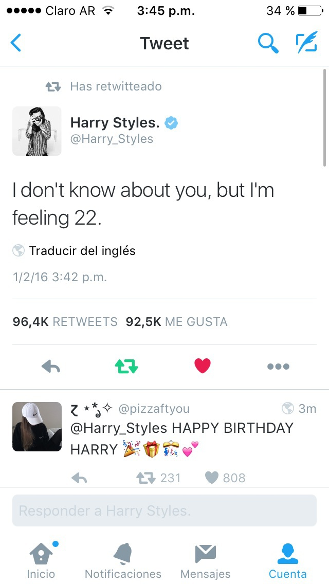 styles, 1d, and happybirthday image