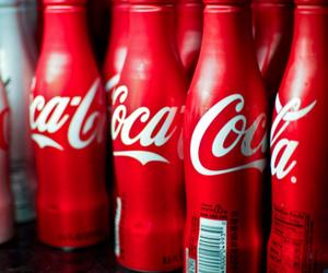 pink, coca cola, and coke image