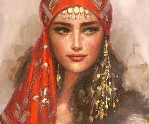 art, gypsy, and drawing image